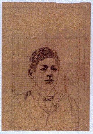 作品画像:下絵 男性肖像