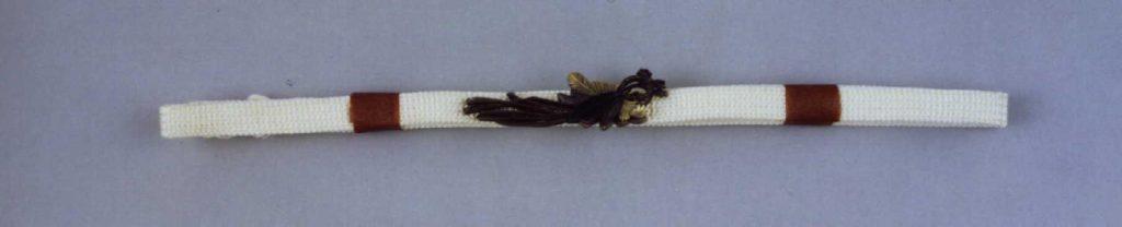 作品画像:〆飾り彫帯留付帯締