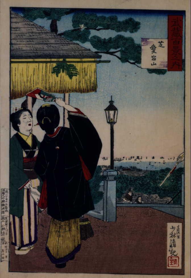 作品画像:武蔵百景之内 芝愛 宕山