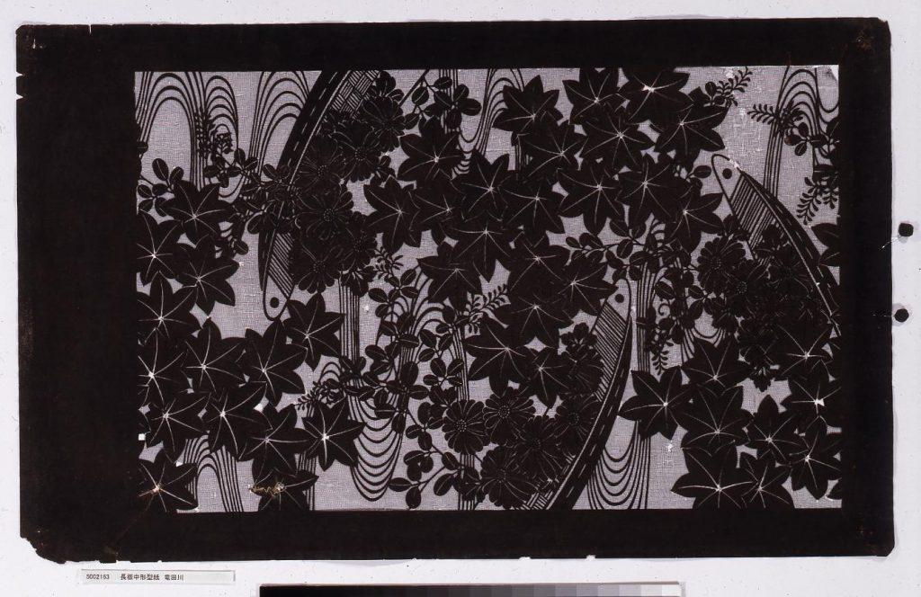 長板中形型紙 竜田川