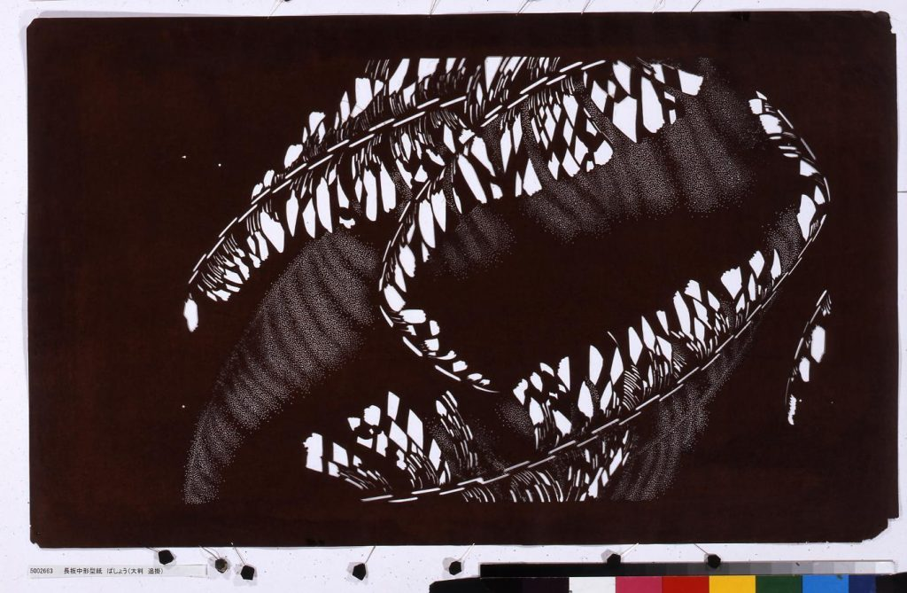 作品画像:長板中形型紙 ばしょう(大判 追掛)