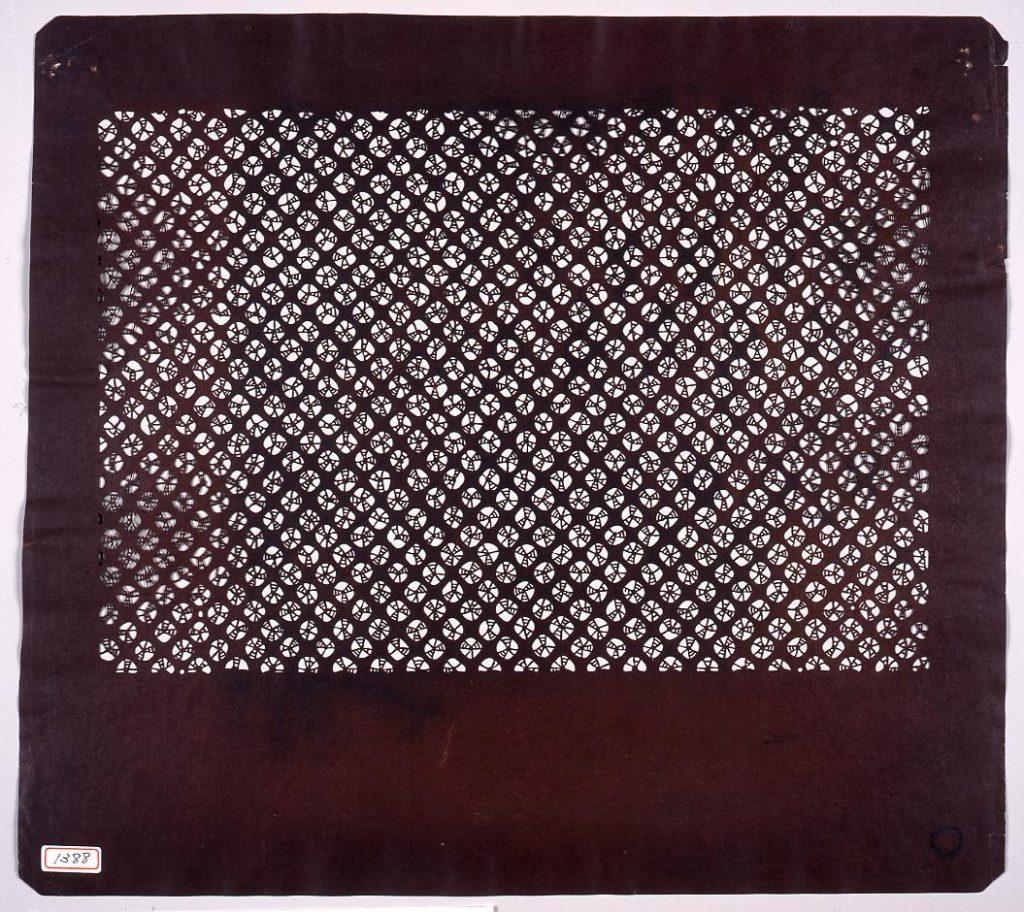作品画像:長板中形型紙 しぼり模様