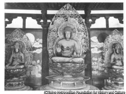 作品画像:法隆寺 薬師三尊像