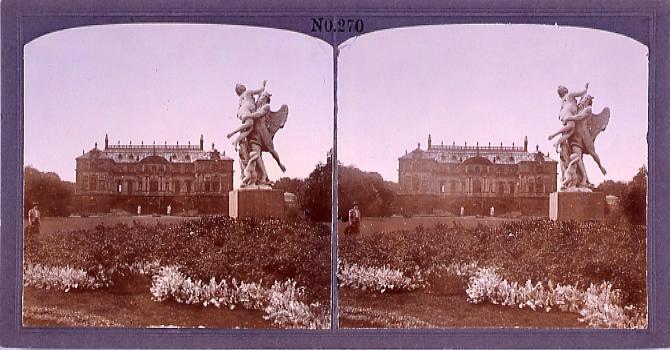作品画像:館と庭園の彫刻(西欧風景)(No.270)