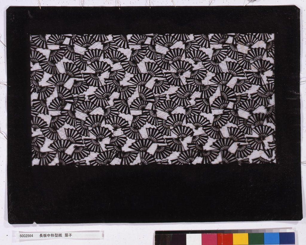 作品画像:長板中形型紙 扇子