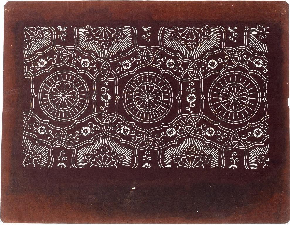 作品画像:長板中形型紙 唐草つなぎ