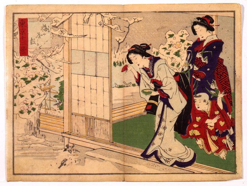 作品画像:東京十二景 梅屋敷