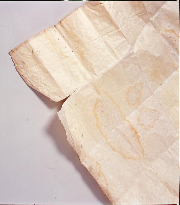 作品画像:風船爆弾のこんにゃく紙