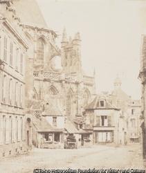 作品画像:トリニテ教会の後陣、 ノルマンディ 地方 ファレーズ