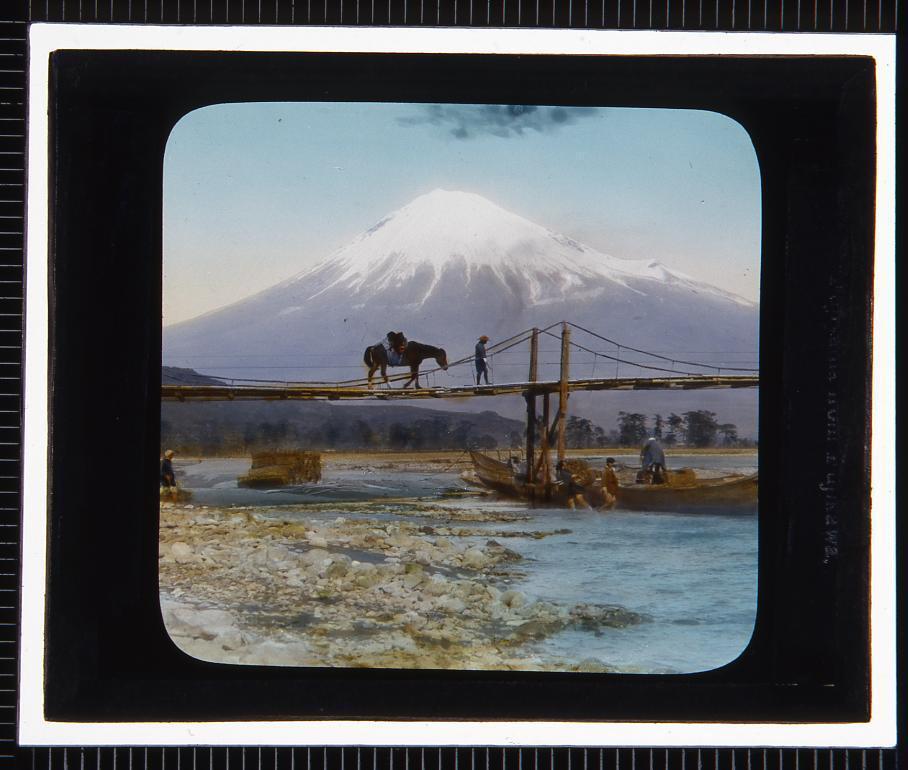 作品画像:富士山(幻燈原板)