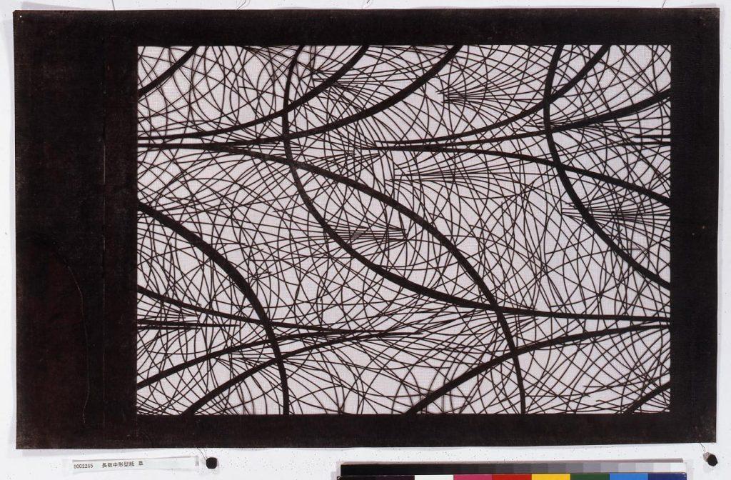 作品画像:長板中形型紙 草