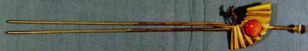 作品画像:銀鍍金珊瑚扇子飾耳掻簪