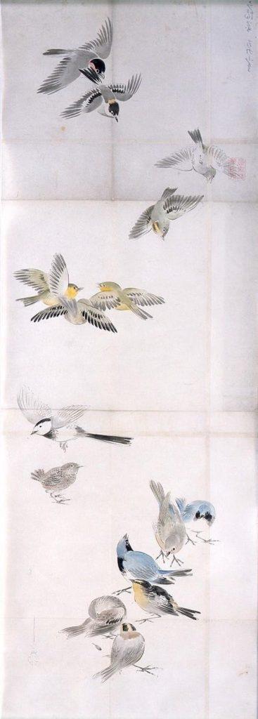 作品画像:粉本 群鳥