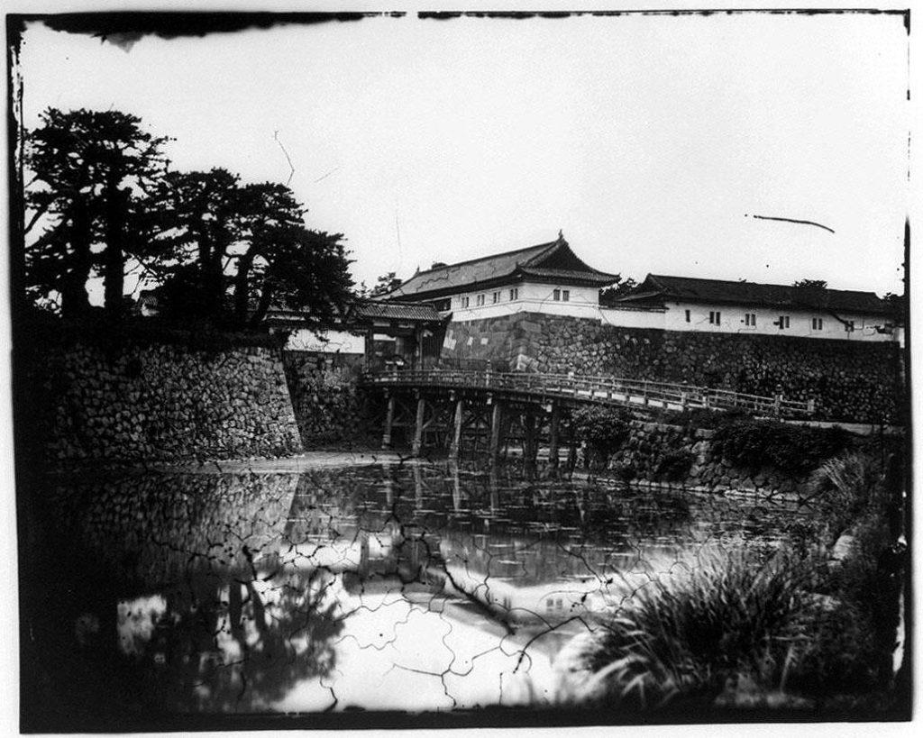 旧江戸城写真ガラス原板  竹橋門