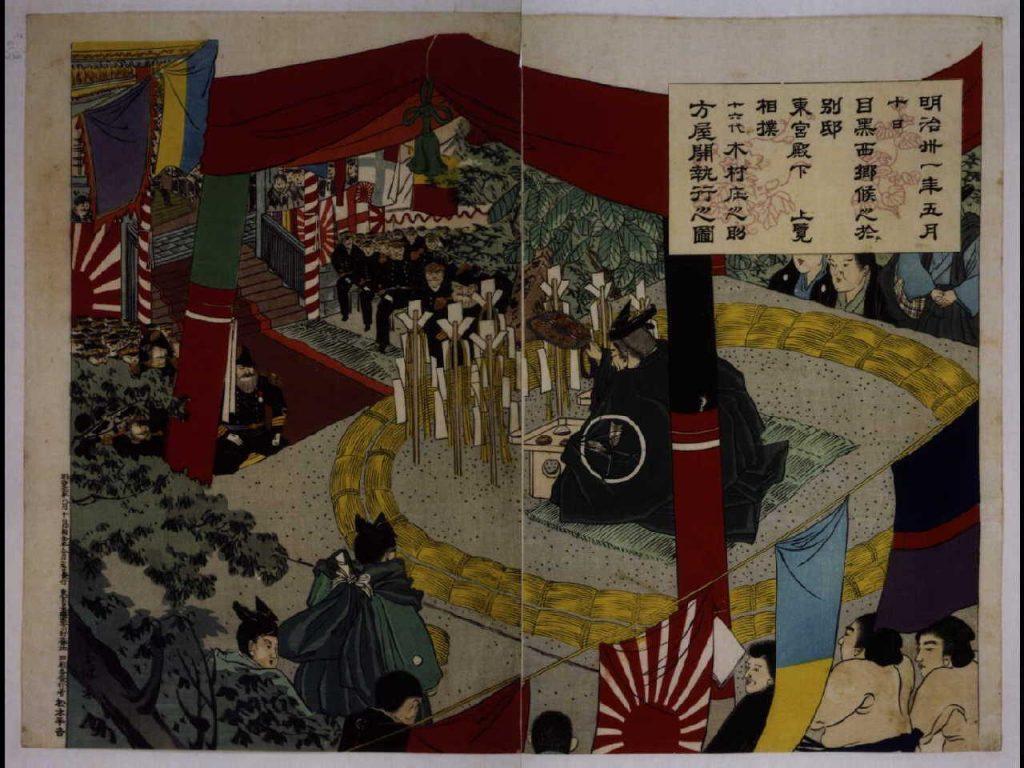 作品画像:東宮上覧相撲之図