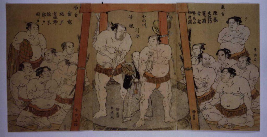 作品画像:小野川 谷風 引分の図