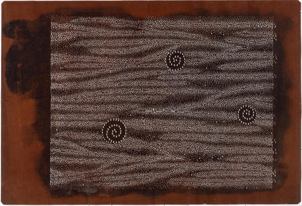 作品画像:長板中形型紙 たたきに渦巻(大判 追掛)