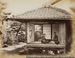作品画像:東海道、原宿にある将軍の休憩所