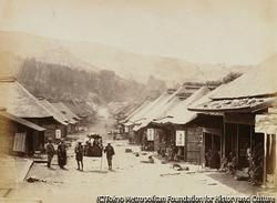 作品画像:箱根の町