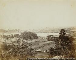 作品画像:ガバナーズヒル(野毛山)から見た横浜のパノラマ