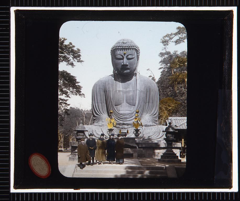 鎌倉 大仏(幻燈原板)