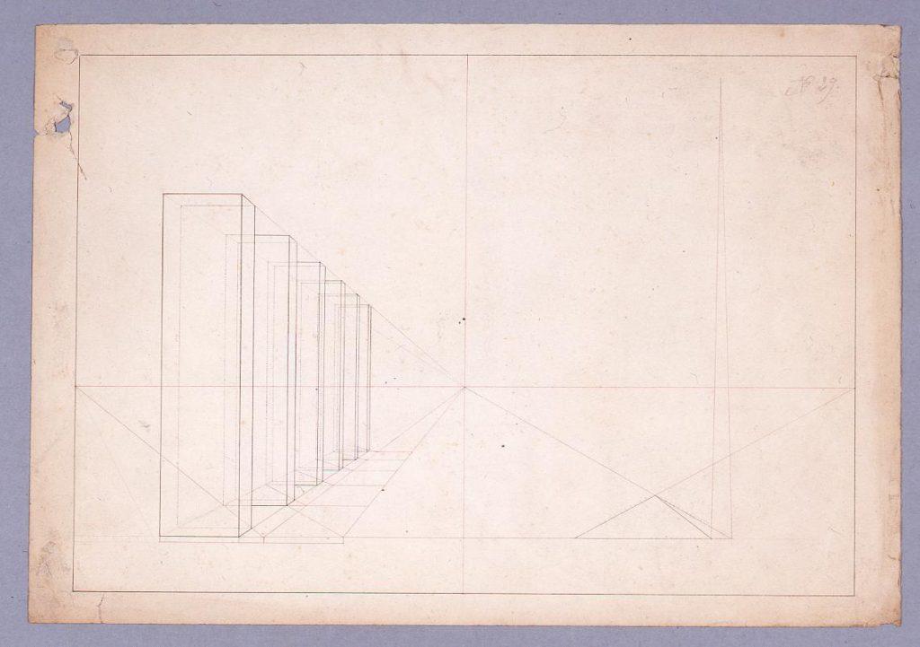 作品画像:図面習作 透視図(列柱)