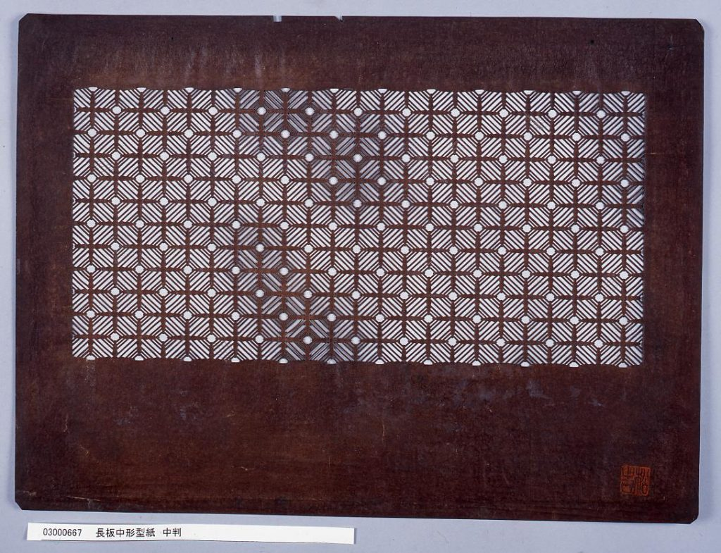 長板中形型紙 中判