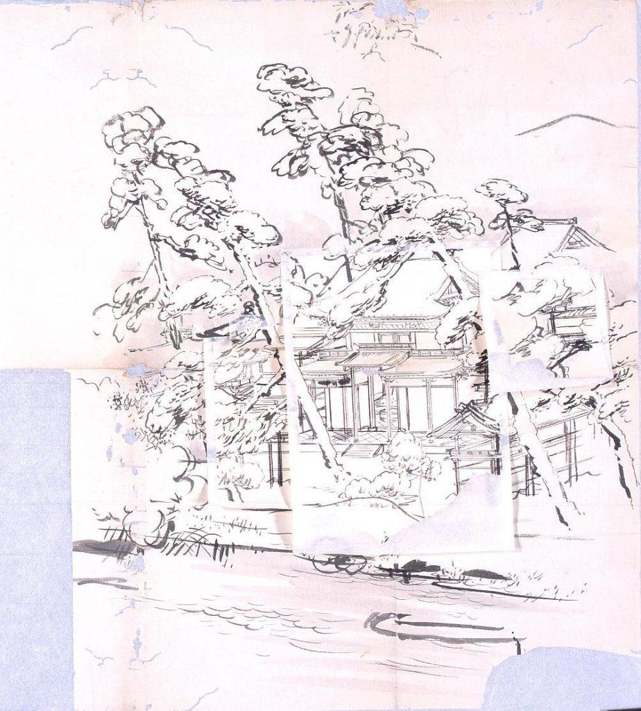 作品画像:粉本 社殿