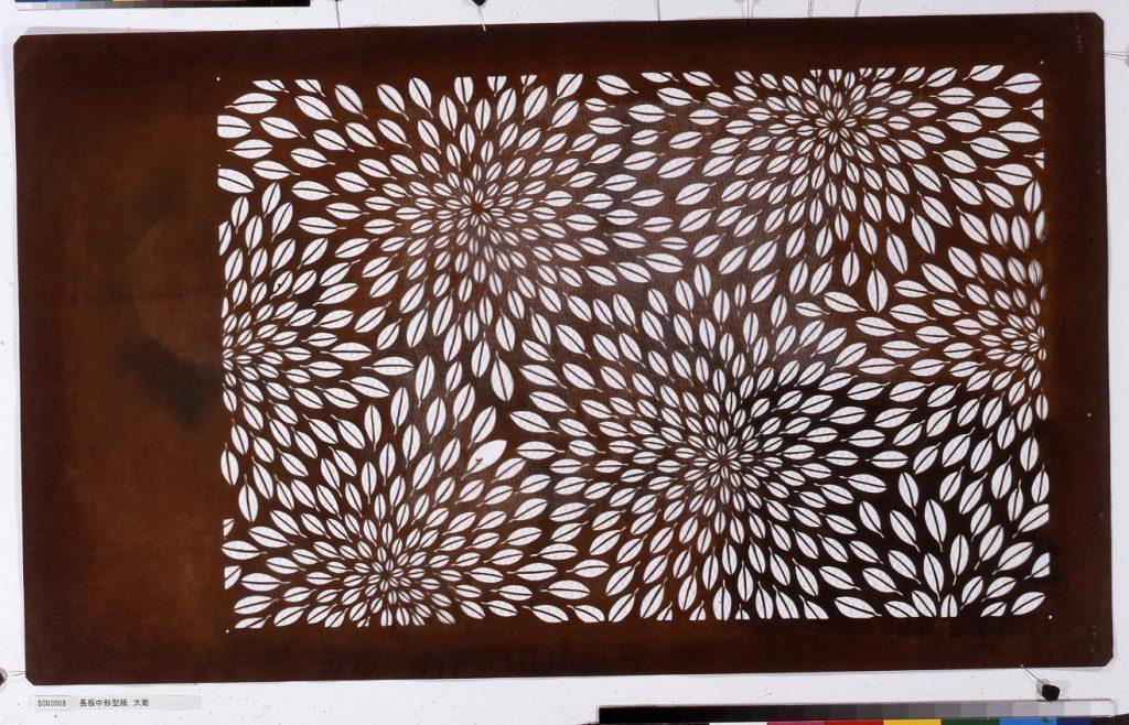 作品画像:長板中形型紙 大菊