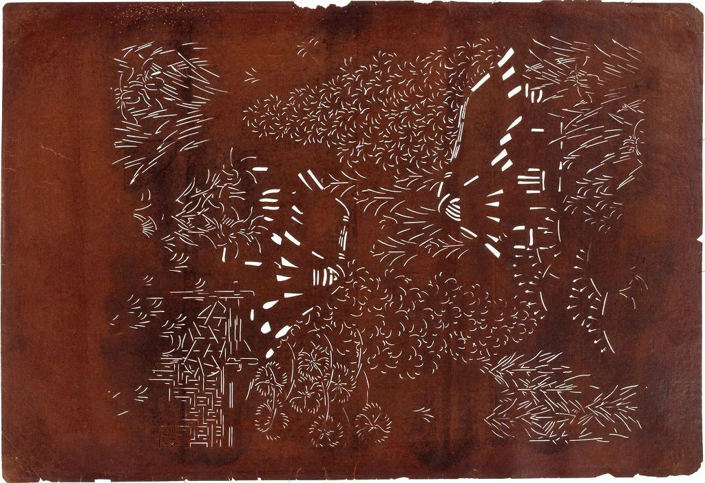 作品画像:長板中形型紙 茶屋辻(大判 追掛)