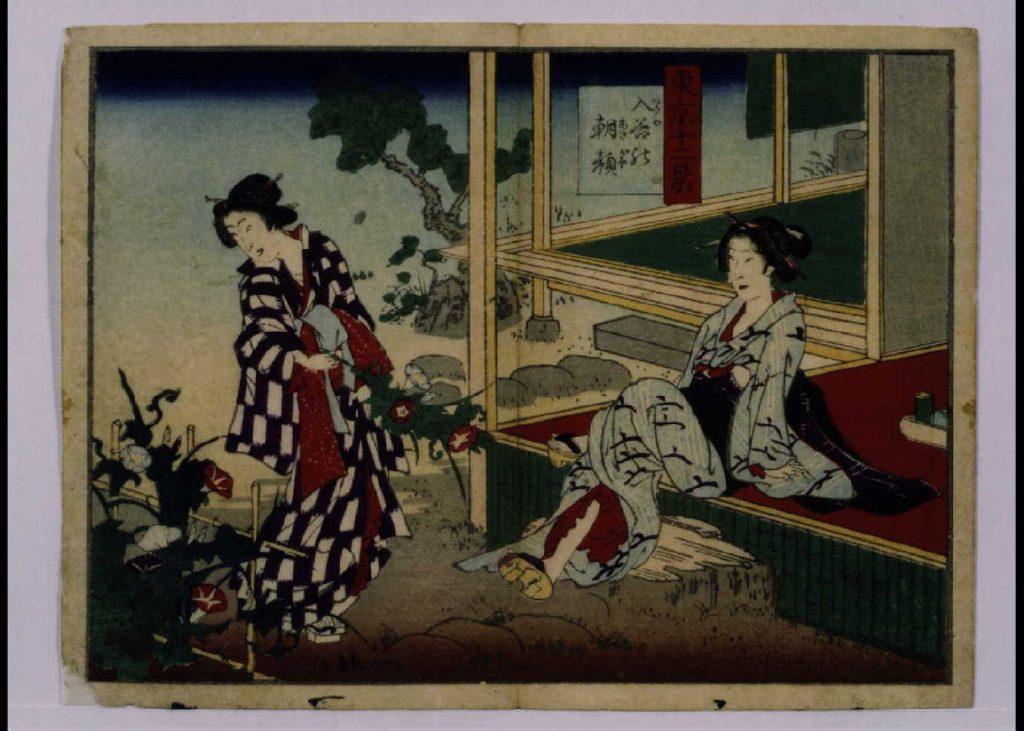 作品画像:東京十二景 入谷の朝顔