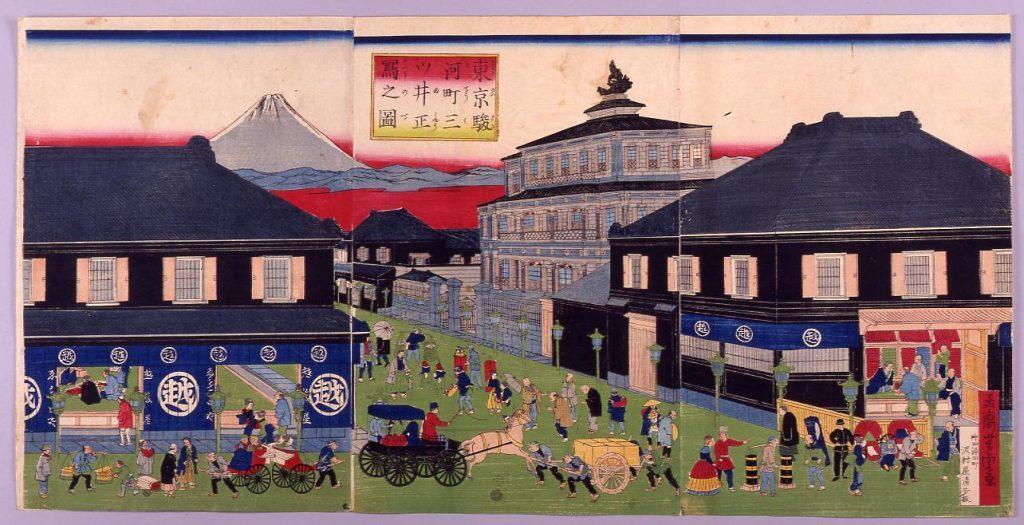 作品画像:東京駿河町三ツ井正写之図