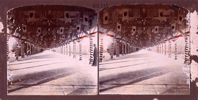 作品画像:新橋停車場プラットホームの装飾(No.146)