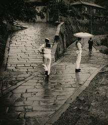 作品画像:雨の長崎 1953