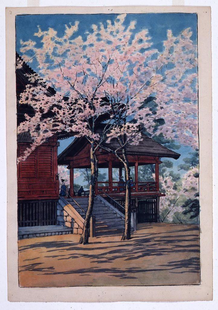 作品画像:東京二十景 上野清水堂 原画