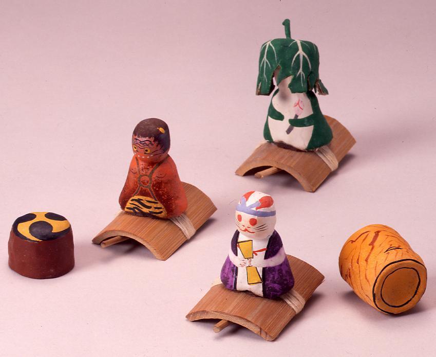 作品画像:ミニチュア玩具 とんだりはねたり 蛙