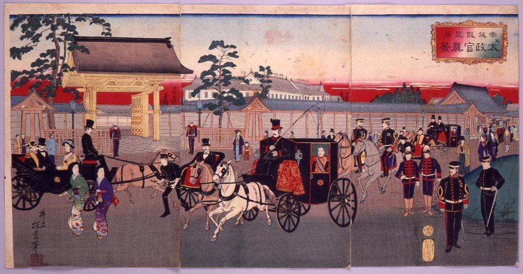 作品画像:赤坂仮皇居及太政官真景