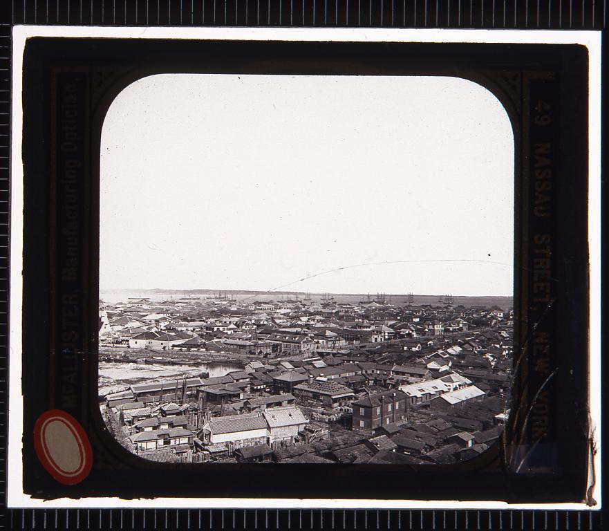 横浜の展望(幻燈原板)