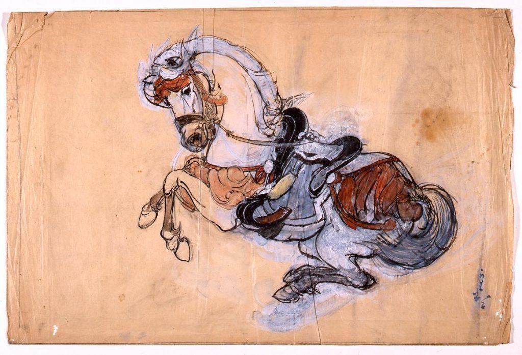 作品画像:下絵 馬