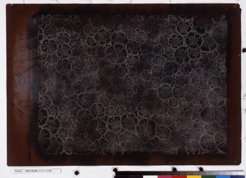 作品画像:長板中形型紙 なでしこ(小紋)