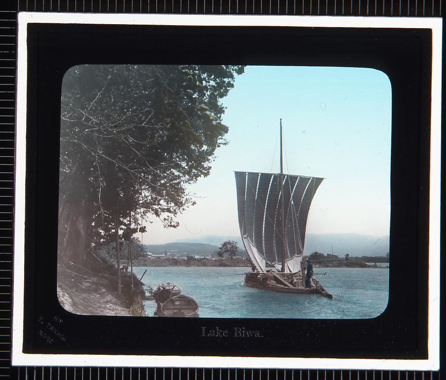 作品画像:琵琶湖 帆船(幻灯原板)