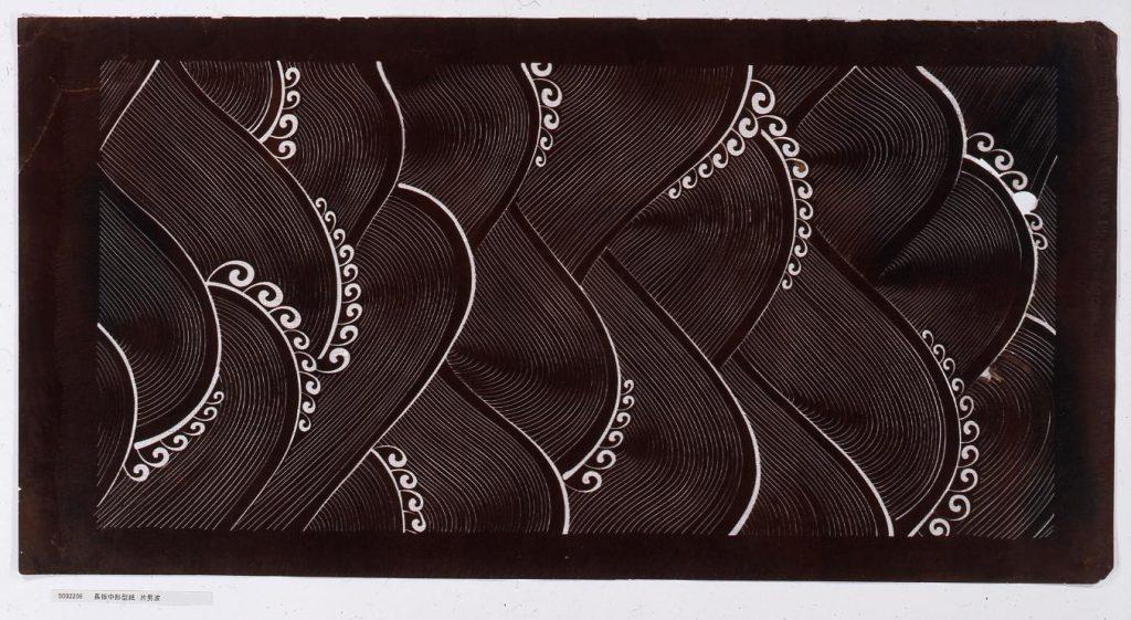 作品画像:長板中形型紙 片男波