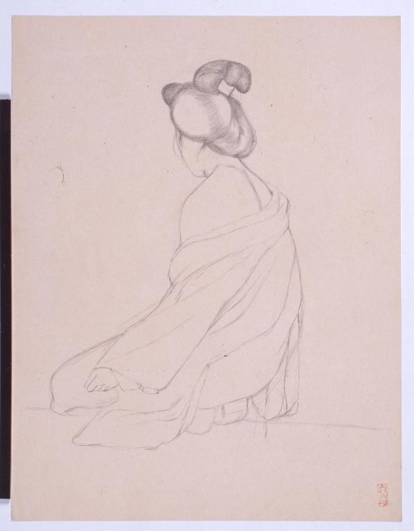 作品画像:肩ぬぎの女・肩ぬぎの女