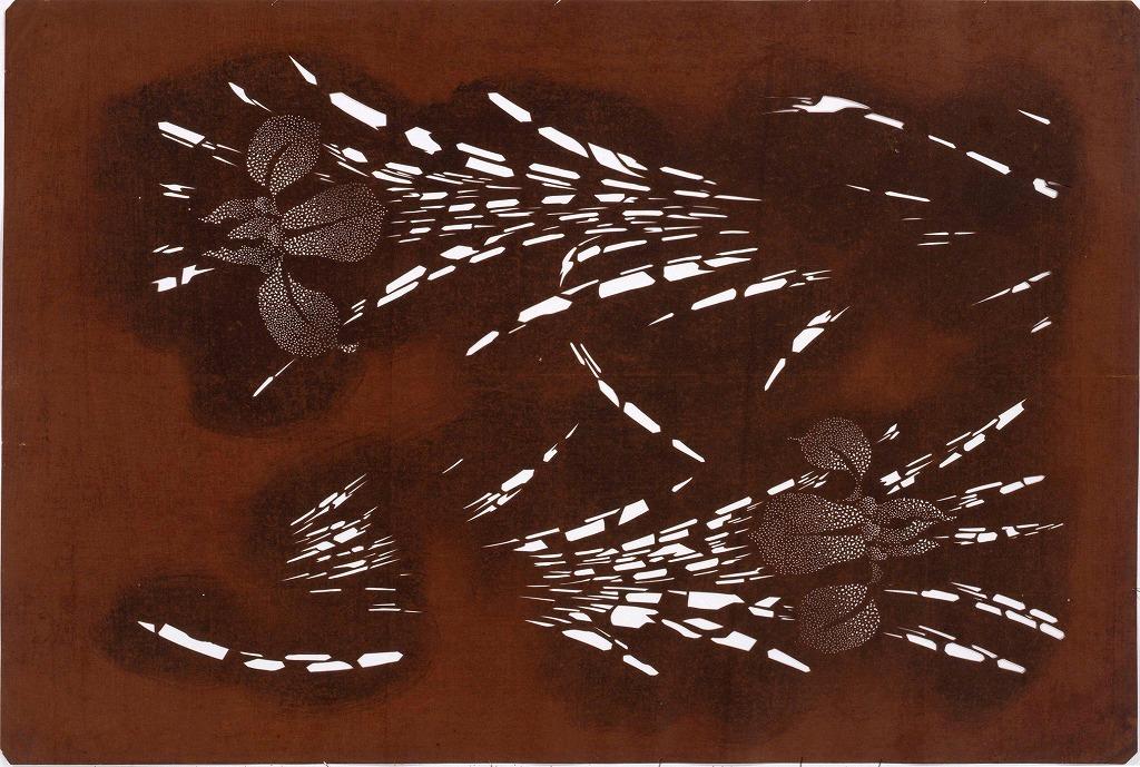 作品画像:長板中形型紙 菖蒲(大判 追掛)