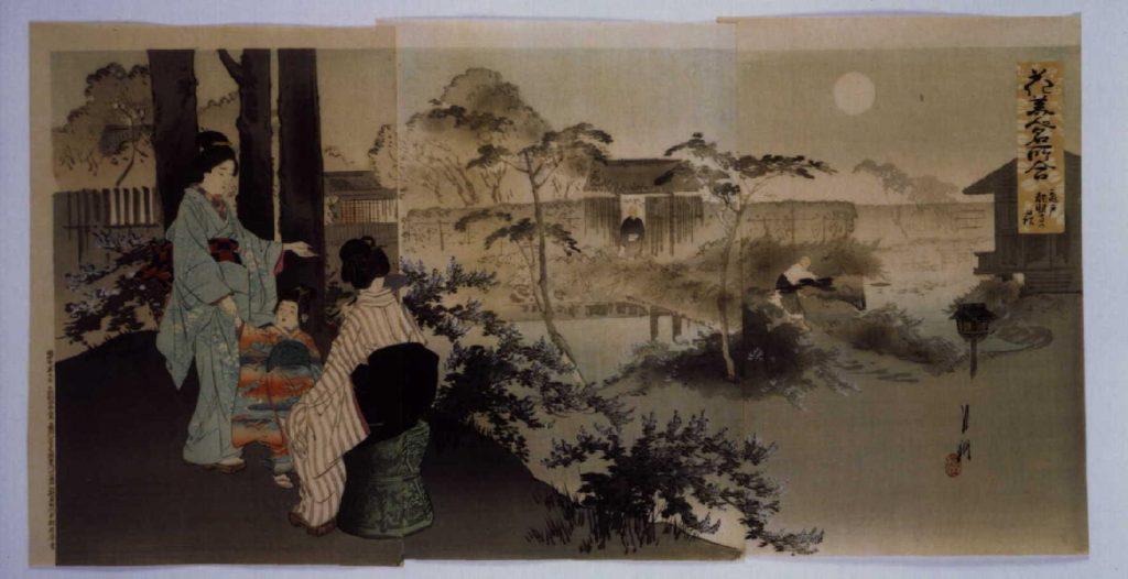 作品画像:花美人名所合 亀戸龍眼寺の萩