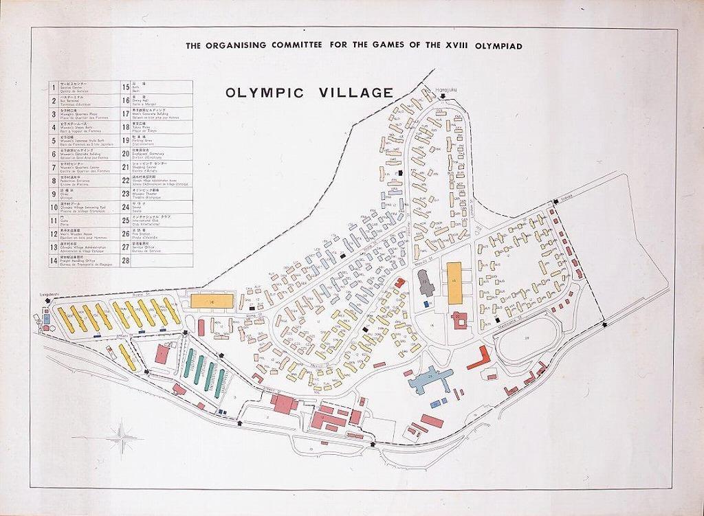 東京オリンピック選手村 英文案内図