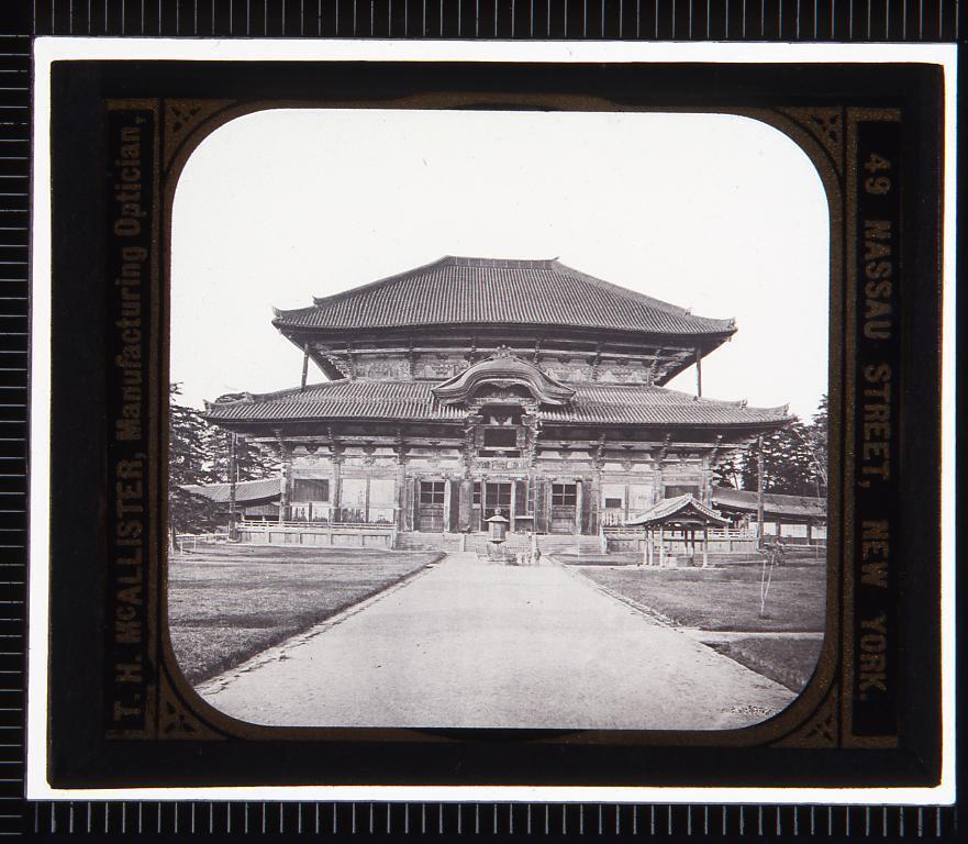 作品画像:奈良 東大寺(幻燈原板)