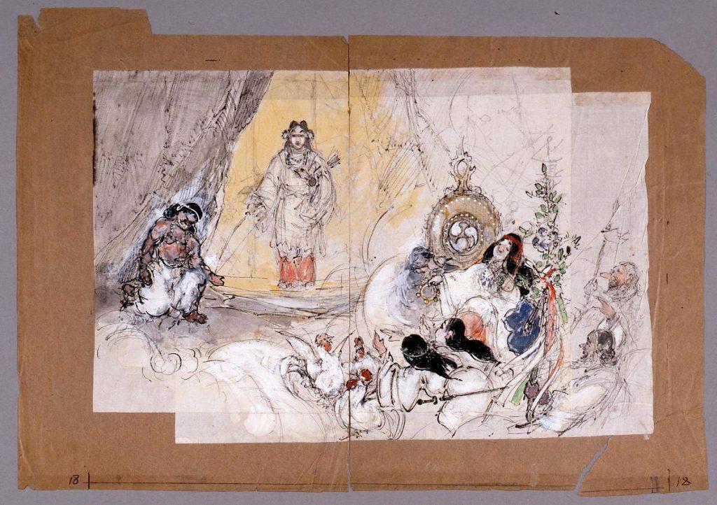 作品画像:下絵  天の岩戸(『日本一』第2巻第1号口絵)