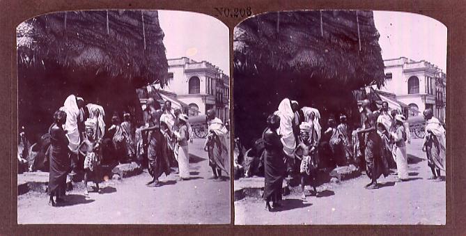 作品画像:インドのマドラスの人々(No.203)
