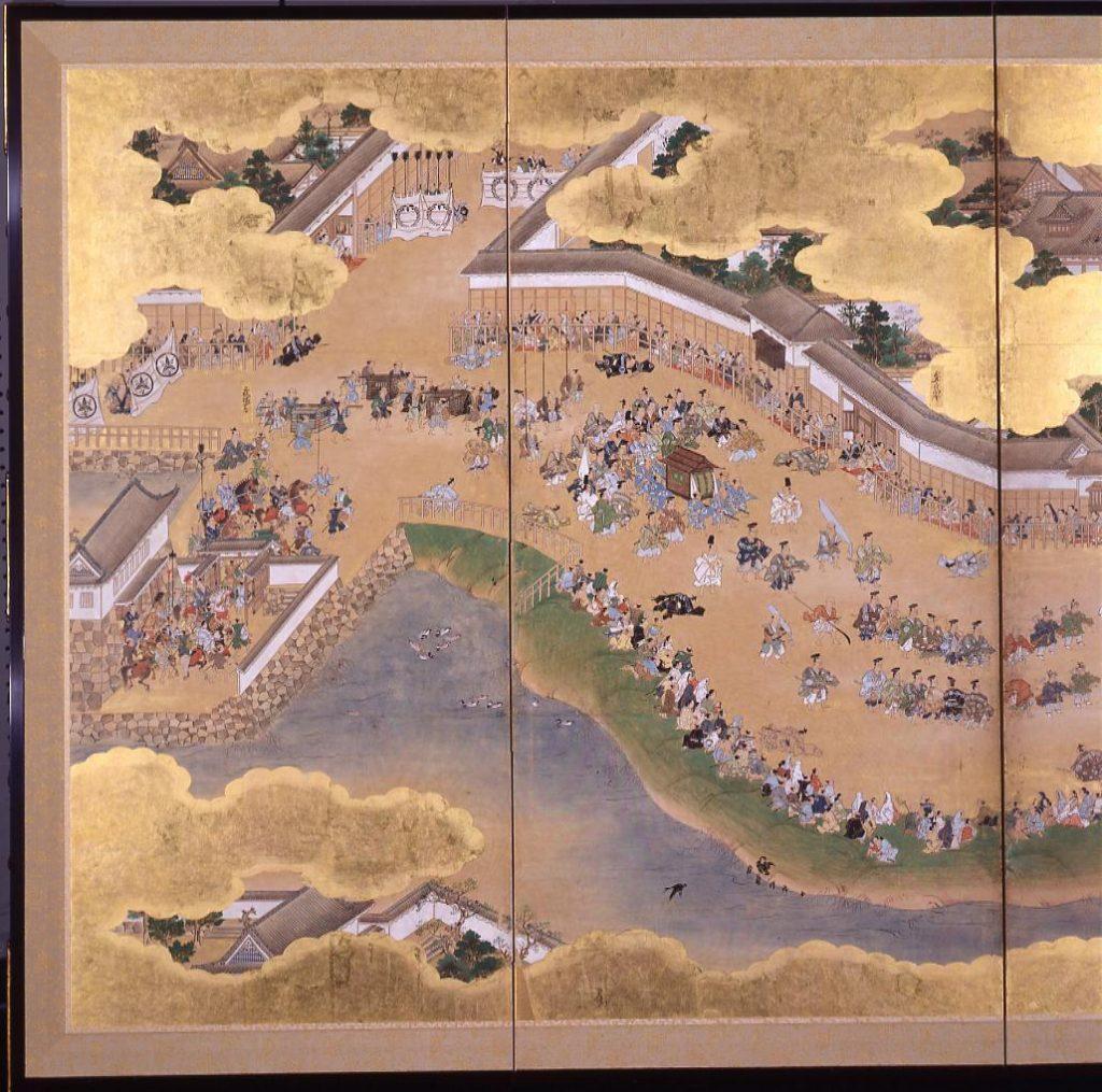 作品画像:日吉山王社日光東照宮参詣図屏風